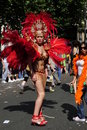 Show girl on the street in paris gay pride Royalty Free Stock Photo