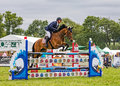 Horse Show Jumping at the Hanbury Countryside Show, England. Royalty Free Stock Photo