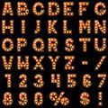 Show lamps alphabet