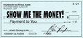 Show Me the Money Check Payday Earnings Wages Royalty Free Stock Photo