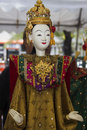 Show model drama heroine for marionette puppet the nd year of rattanakosin city under royal benevolence at monday april   Royalty Free Stock Photo