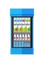 Showcase Refrigerator Drinks Royalty Free Stock Photo