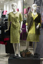 Showcase women s clothing store plastic mannequins Royalty Free Stock Photos