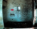 Shower in abandoned mental hospital frightening Royalty Free Stock Photography