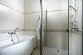 Shower and bath cabin in the hotel Royalty Free Stock Photography