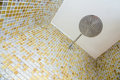 Shower a with colorful tiles Royalty Free Stock Photo