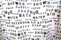 Shower curtain Royalty Free Stock Photo