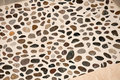 Shower floor river stone new made with rock Royalty Free Stock Images