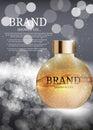 Shower Gel Bottle Template for Ads or Magazine Background. 3D Re