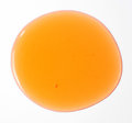 Shower gel orange isolated over white background Stock Images
