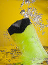 Shower gel in water Stock Photos