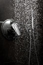 Shower handle water dark Royalty Free Stock Photos