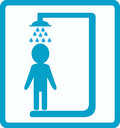 Shower room with man Stock Photography