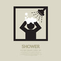 Shower take a bath with big vector illustration Stock Photo