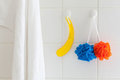 Shower washcloths towel Stock Photos