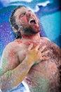 Showering man Royalty Free Stock Photo