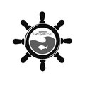 Showroom fresh fish emblem with steering wheel and fish