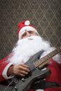 Showtime santa will rock your new year Royalty Free Stock Image