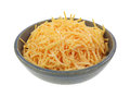 Shredded Cheddar Cheese Dish Angle Royalty Free Stock Photo