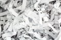 Shredded paper close up pulp symbol photo for data destruction documentation and legacy data Stock Photo