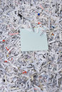 Shredded paper & sticky note Stock Photography