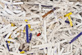 Shredded paper strips of pieces of as background Royalty Free Stock Photo
