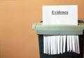 Shredding the evidence, hiding the truth. Royalty Free Stock Photo