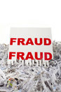 Shredding fraud. Royalty Free Stock Images