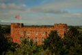 Shrewsbury castle tilt and shift photograph of in shropshire Royalty Free Stock Photos
