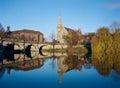 Historic Shrewsbury Town on the River Severn, England Royalty Free Stock Photo