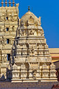 Shri balaji temple in somnath gopuram of or venkateshwar form of lord vishnu Stock Photo