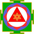 Shri Ganesha-Yantra Stock Photos