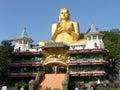 Shri-lanka, the Buddistsky Gold temple Royalty Free Stock Photo