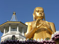 Shri-lanka, the Buddistsky Gold temple Stock Photo