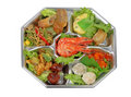 Shrimp assortments tray Stock Image