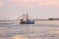 Shrimp Boat at Grand Isle, Louisiana Royalty Free Stock Photo
