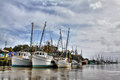 Shrimp Boats Royalty Free Stock Photo