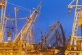 Shrimp boats at dawn Royalty Free Stock Photo