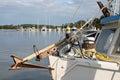 Shrimp boats at the dock Royalty Free Stock Photo