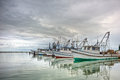 Shrimp Boats in a Row Royalty Free Stock Photo