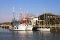 Shrimp Boats at Shem Creek SC Royalty Free Stock Photo