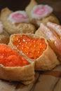 Shrimp Crab Roe sushi Royalty Free Stock Photo