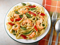 Shrimp Fettuccine Royalty Free Stock Images