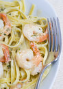 Shrimp Fettuccine Royalty Free Stock Photography