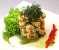 Shrimp fiesta a very delicious for the viewing and tasting pleassure Royalty Free Stock Photos