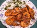 Shrimp in Garlic Sauce Stock Photography