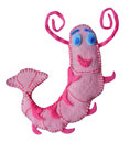 Shrimp handmade felt kids toys Royalty Free Stock Photography