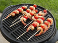 Shrimp kabobs Royalty Free Stock Images