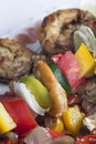 Shrimp Kebab Skewers Royalty Free Stock Photo