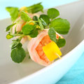 Shrimp Mango Watercress Snack Royalty Free Stock Photo